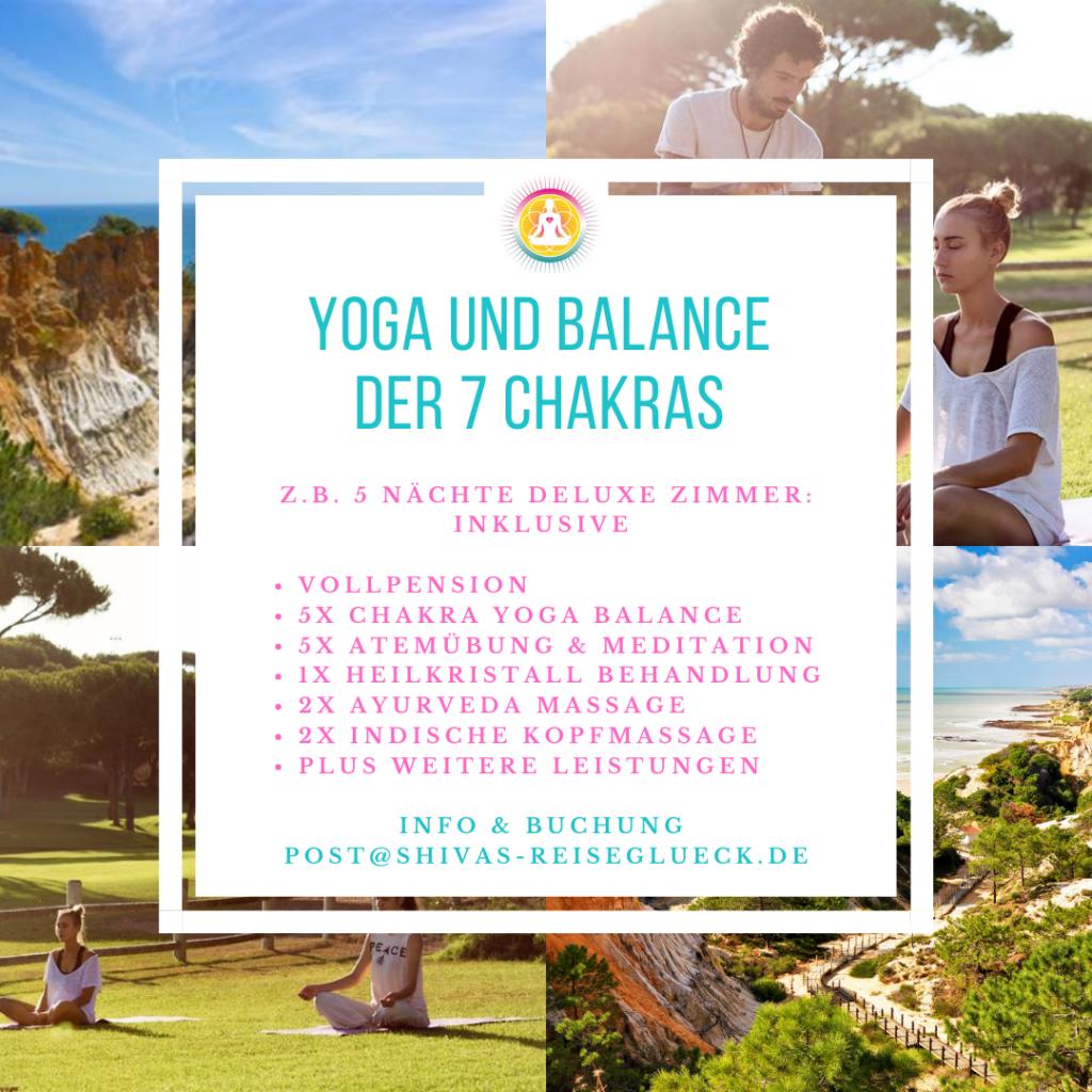 Chakra Yoga Reise und Wellness im 5 Sterne Hotel an der Algarve