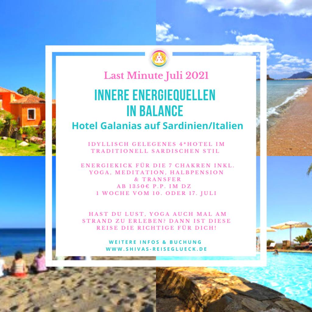 Yogareise Italien Sardinien